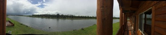 Island Park, ID: Panoramic view from balcony