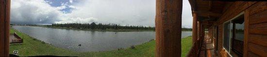 Island Park, Idaho: Panoramic view from balcony