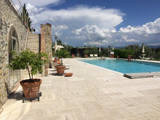 Villa Dini: Flott bassengområde