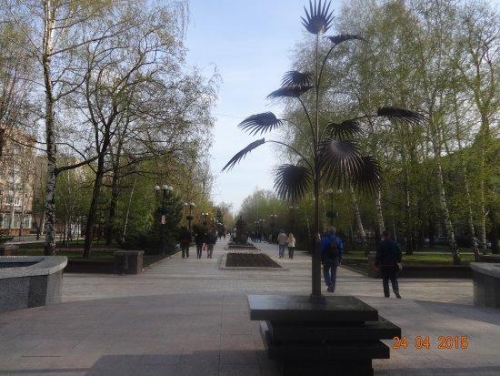 Pushkin Boulevard: Пальма Мерцалова - символ Донецка - на бульваре Пушкина
