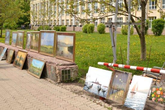 Pushkin Boulevard: Работы донецких художников на бульваре Пушкина
