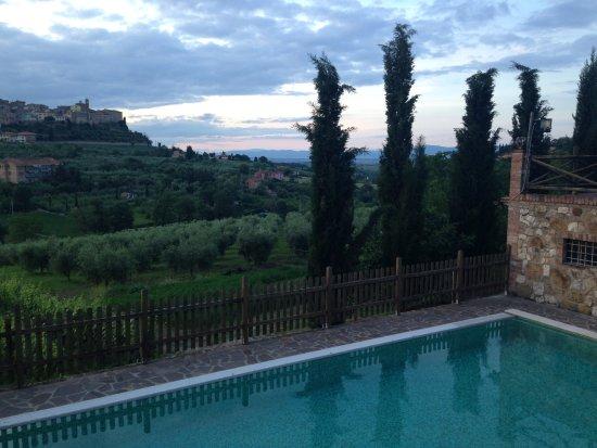 Agriturismo La Pietriccia: Piscina con vista