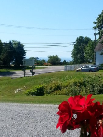 Bay Leaf Cottages & Bistro: View from the shared motel porch