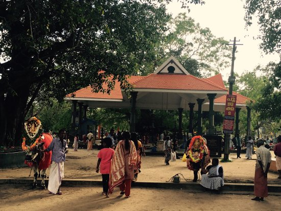 Oachira, India: Entrance and the surrounding of Parabrahma Temple.
