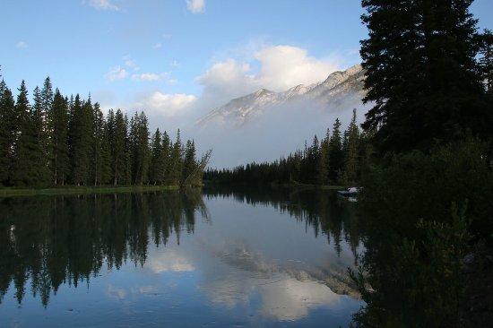 Bow View Lodge: 同じく敷地から50m以内にあるトレイルから。朝7:30頃撮影。