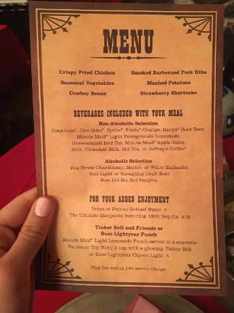The Hoop-Dee-Doo Musical Revue: the menu