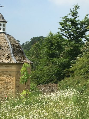 The Slaughters, UK: Dovecot and wildflower garden