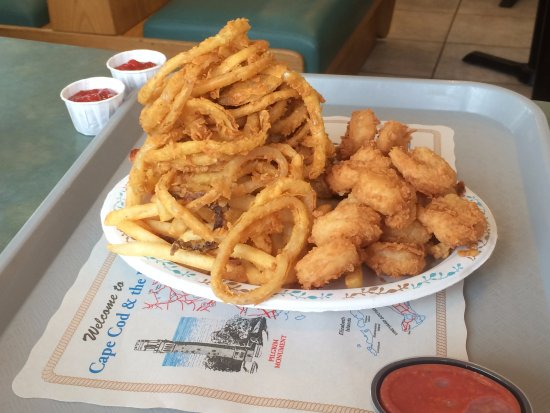 Original Seafood: onion rigs are excellent
