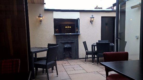 Sale, UK: the rear courtyard
