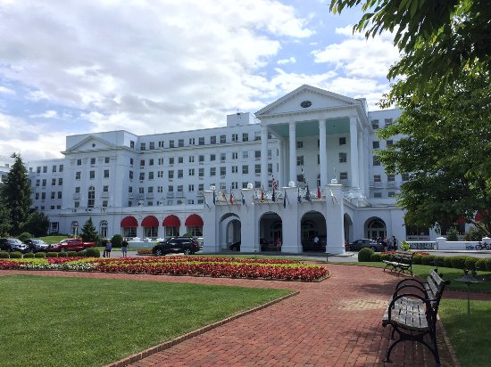 The Greenbrier: view from front entrance
