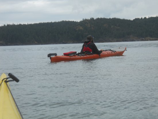 Heriot Bay, Kanada: Our Guide Jeff leading the way.