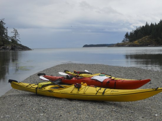 Heriot Bay, Canadá: Lunch break and the sun even made a brief appearance.