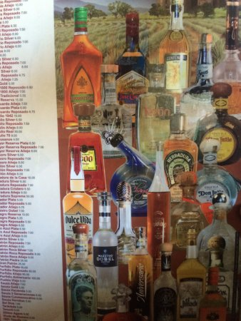 Tequilas Family Mexican Restaurant: Tequila menu