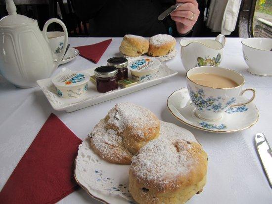 Churnet Valley Railway : Delicious cream tea.