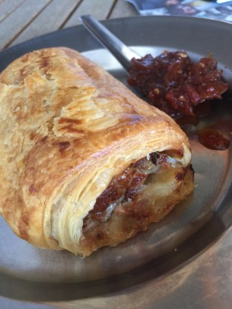 Red Door Bakery: Pork sausage Roll with chilli Jam