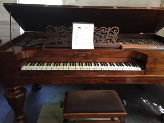 The Old Manse : A beautiful piano in the parlor