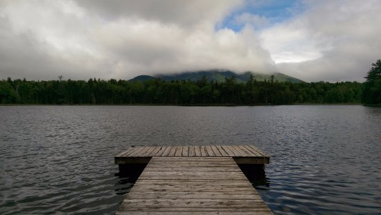 Little Lyford Lodge and Cabins: View from dock at Lyford pond