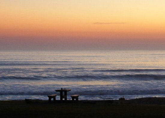 Beach Lodge Swakopmund: Sonnenuntergang