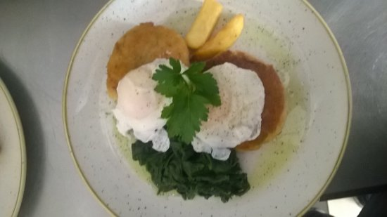 Oaksey, UK: **fish cakes**