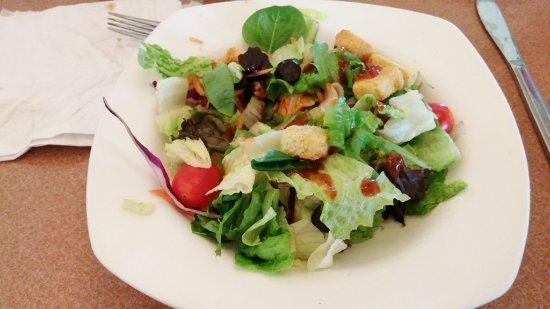individual salad, Melo's Pizza & Pasta, Pleasant Hill, CA, May 2016