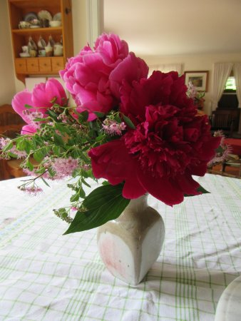 Thyme in the Country: Fresh picked flowers from garden greeted us each day.