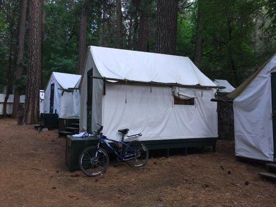 Our tent cabin picture of half dome village yosemite for Half dome tent cabins