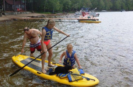Saint Germain, WI: Dogs & Kids alike love to paddle