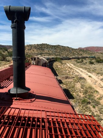 Verde Canyon Railroad: View from upper deck captains seats