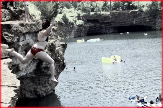 Isle La Motte, VT: jumping