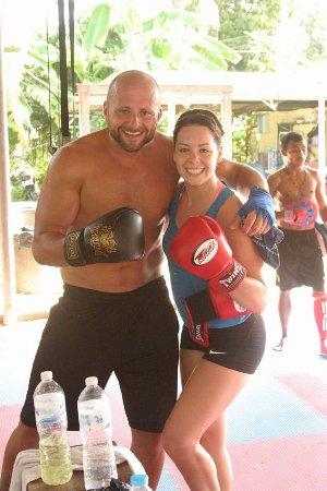 My husband and I training at Diamond Muay Thai