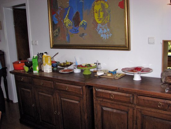 Eric The Red Guesthouse: Breakfast On Buffet Table( Bread Jam Etc And Coffee  And