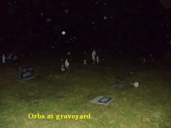 Ghost Tour of Old Monterey : Orbs at graveyard.