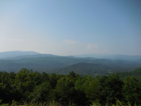 Townsend, TN: Thunderhead, Rich Mountain, Gregory's Bald far right, and Happy Valley below