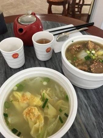 Steam Up: Puer tea Wonton chicken soup & Beef Brisket. Dumplings to follow.