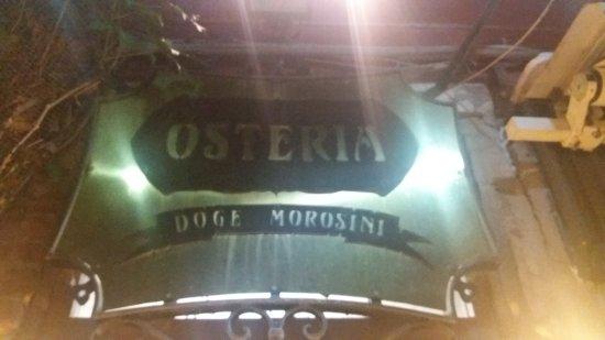 Osteria Doge Morosini : PLACA COM NOME DO RESTAURANTE