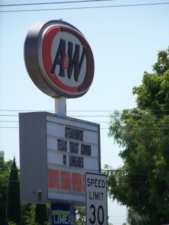 A & W All American Food: Sign