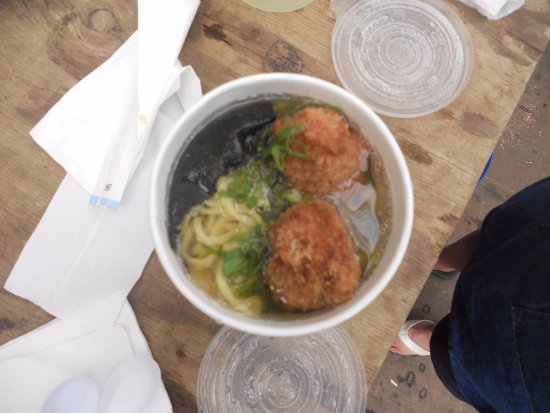 Nuka: saimin with large fish balls