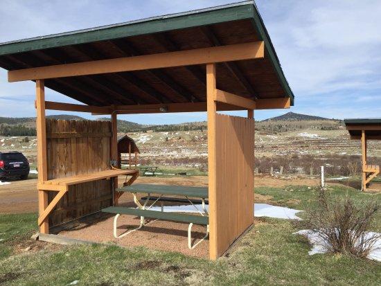 KOA-Cripple Creek: Convenient covered spots by your tent sites.