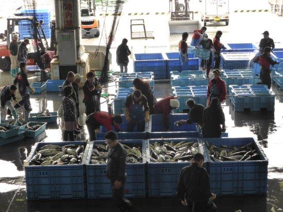 Kesennuma Fish Market: 活気があります