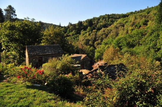 Saint-Privat-de-Vallongue, France : Vue pendant le petit déjeuner