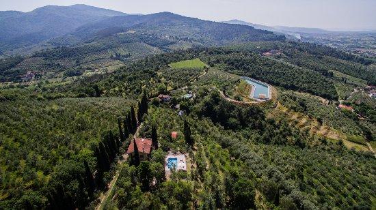 Castiglion Fiorentino, Italia: Aerial view