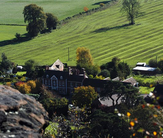 Grinshill, UK: The Inn from above