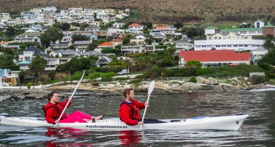 Kayak Cape Town: Coming back into the harbor!