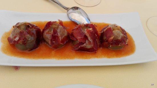 Pozo de los Frailes, Spagna: coeurs d'artichauts au jambon ibérique et sauce douce