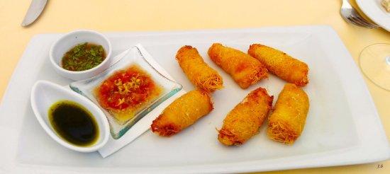Pozo de los Frailes, Spagna: les croustades de poisson aux trois sauces