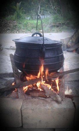 every evening we make a stew in this cast iron pot