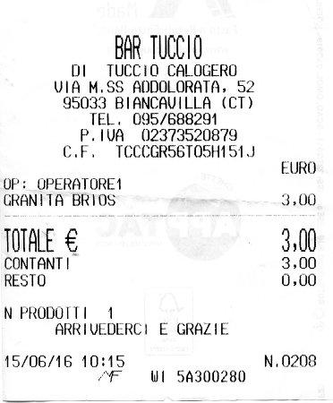 Biancavilla, Italia: 1 granita e 1 brioche