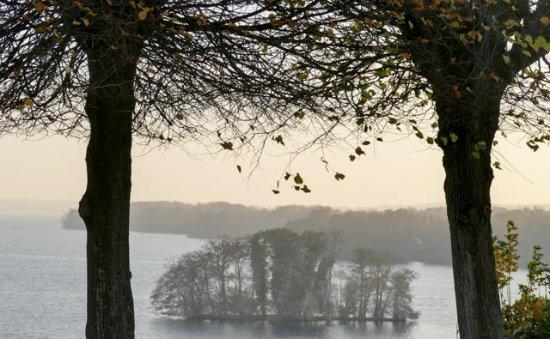 Plon, Germany: Herbstblick auf den grossen Plöner See