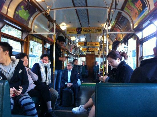 City Circle Tram: Interior of the Circle tram
