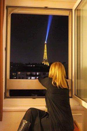 Ibis Tour Eiffel Cambronne: Foto tira do quarto com a vista fofa